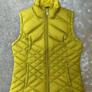 Eddie Bauer Womens Green Down Puffer Full Zip Vest